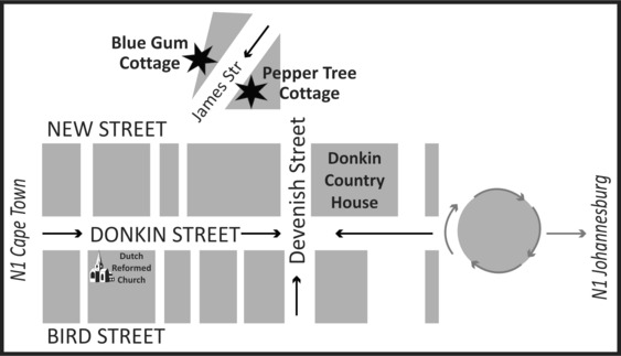 Pepper Tree Cottage - Map